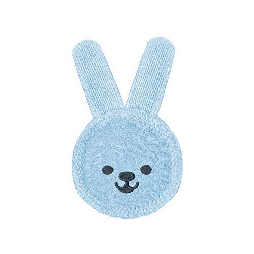 MAM Oral Care Rabbit für Baby's erste Mundhygiene, sanfte Zahnpflege mit weichem Mikrofaser-Material, Babys an die tägliche Mundreinigung gewöhnen, ab 0+ Monate, blau