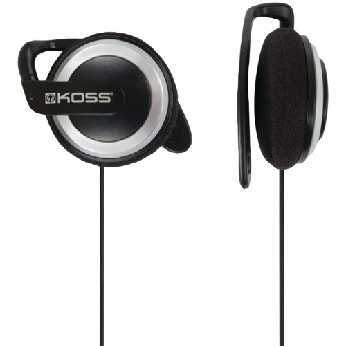 Koss KSC21 SportClip Clip-On Headphones,Black