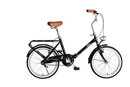 BeBikes La Mia bicicletta Città Acciaio Nero BICICLETTA PIEGHEVOLE