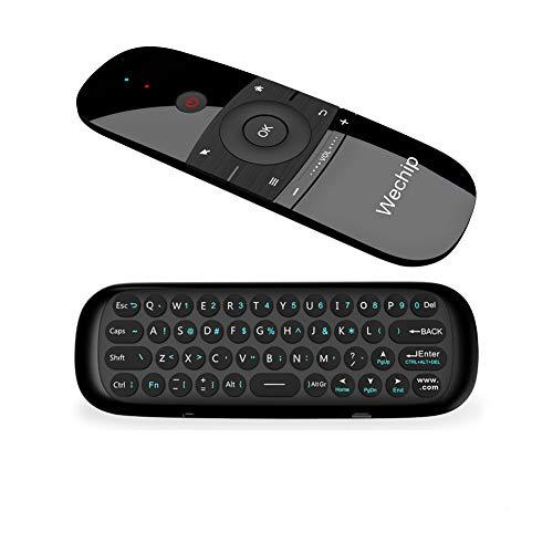 Ratón de Aire, Wechip Mini Teclado Inalámbrico y Ratón para Android TV Box, Smart TV, Ordenador, portátil, proyector, HTPC, IPTV, Reproductor Multimedia