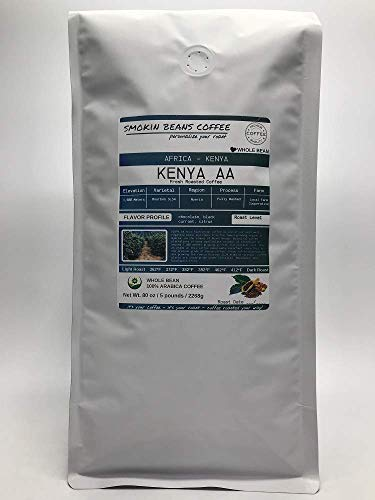 Northern Africa, Kenya AA (5-Pound Bag) Premium Arabica Coffee Freshly Custom Roasted Today (Medium Roast/Whole Bean) Customized Roast Or Grind Is Available By Messaging Us At Time Of Checkout
