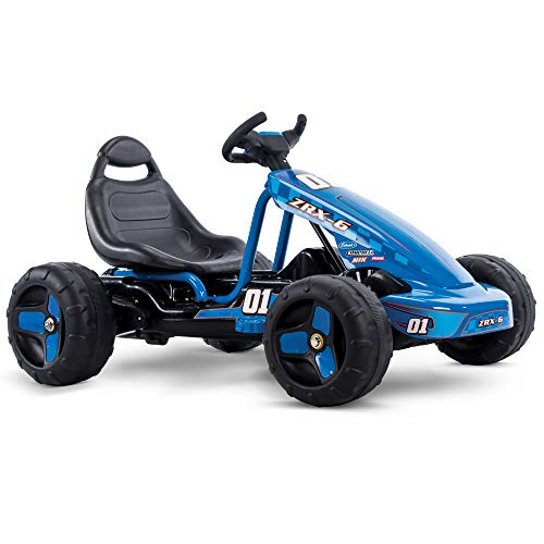 Huffy Flat Kart Battery-Powered Ride On Kid Car, Blue
