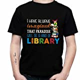 Personalized T Shirt - Librarian Paradise Will Be A Kind of Library Photo Text Custom T-Shirts Hoodie Tank Top Shirts for Women Men Gift Funny Your Design