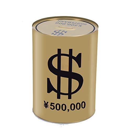 NYKK Geldbanken für Kinder Creative-Piggy Bank Metall-Spardose Tinplate Runde Piggy Bank Geld kann Geld-Kasten Geldbanken