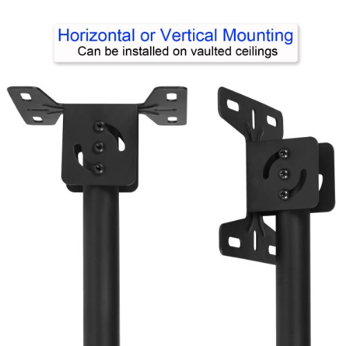 Cheetah Mounts APLCMB Plasma LCD TV Tilt And Swivel Ceiling Mount for 32 to 63-Inch (Black)