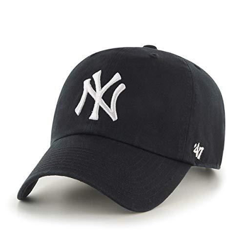 '47 York Yankees Adjustable Cap Clean Up MLB Black/White - One-Size