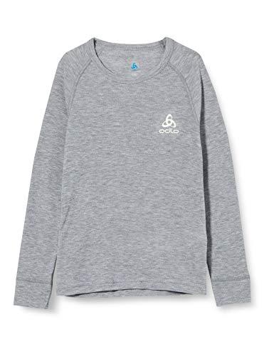 Odlo ML WARM, T-shirt manches longues Mixte enfant, Gris (grey melange), 140