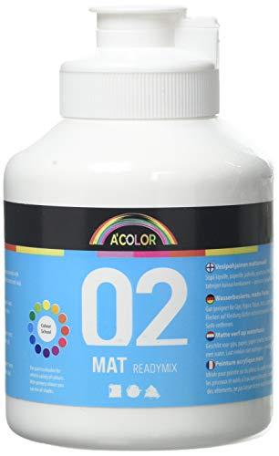 A-Color - Pintura para mezclar, blanco, 500 ml