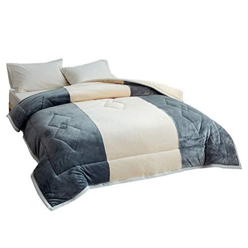SJTCP Warm Comforters Dekens - Extra Gezellige Kristallen Fleece Quilting Dekbedovertrek - Winter Drie Lagen van Verdikking Extra Warm Bed Gooi Beddengoed
