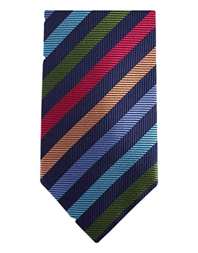 Knightsbridge Neckwear Multi-colour Kensington Striped Silk cravate de