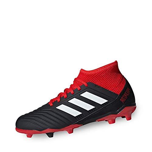 adidas Unisex-Kinder Predator 18.3 FG Fußballschuhe, Schwarz (Negbás/Ftwbla/Rojo 001), 38 EU