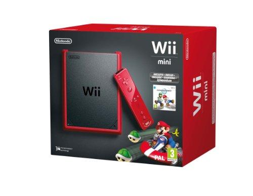 Nintendo Wii–Console Mini, couleur rouge + Mario Kart–édition limitée