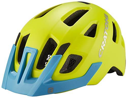 Cratoni Maxster Pro Helm Kinder Lime/Blue Matte Kopfumfang XS/S | 46-51cm 2020 Fahrradhelm