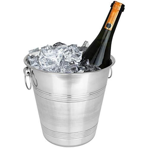 TW24 Sektkühler Edelstahl Wein Champagner Sekt Kühler Weinkühler Eiskübel Flaschenkühler Champagnerkühler