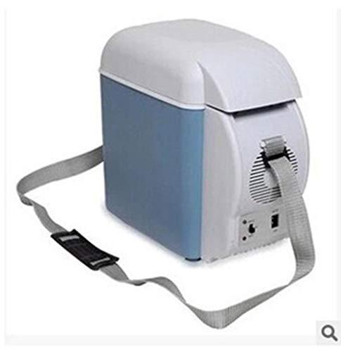 Mini refrigerador portátil para automóvil de 7.5L refrigerado fresco y caliente con un portavasos Voltaje 12V Coche 220V Fuente de alimentación para el hogar 48 (W) Peso 1.95 kg con tamaño de caja: 32