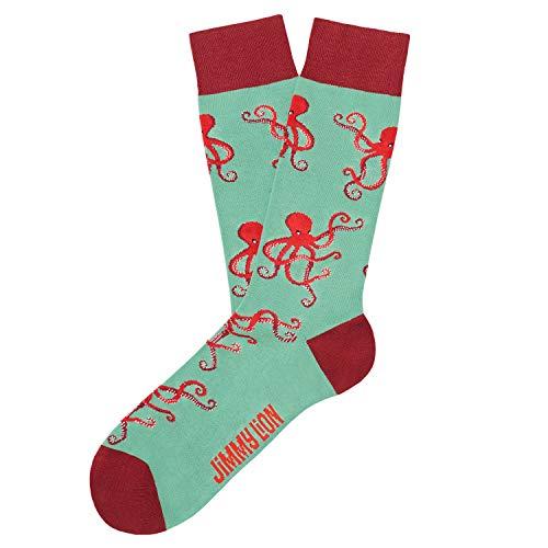 Jimmy Lion Socken Octopus - Türkis sind aus gekämmter Baumwolle hergestellt. Socken bei Größe 36-40.