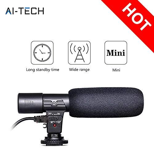 Microfono Stereo Microfono Videocamera Stereo Microfono A Condensatore Per Intervista Registrazione Per Canon Nikon fotocamera DSLR