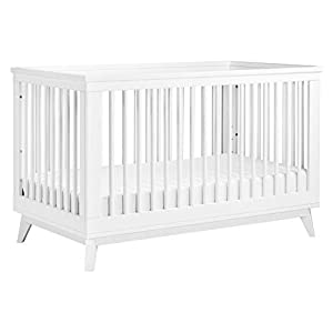 Babyletto Scoot 3-in-1 Convertible Crib with Toddler Bed Conversion Kit in White, Greenguard Gold Certified