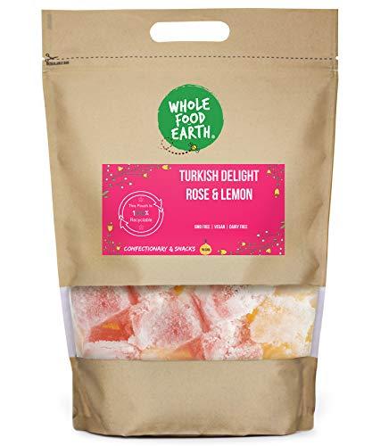 Wholefood Earth Turkish Delight Rose & Lemon - GMO Free - Vegan - Dairy Free, 500 g