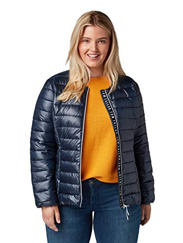 TOM TAILOR MY TRUE ME Damen Lightweight Jacke, Blau (Sky Captain Blue 10668), (Herstellergröße: 46)