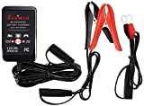 Suuwer Battery Charger, 12V 2-Amp Fully-Automatic Smart Trickle Charger for Sealed Maintenace Free AGM, SLA, AGM, Gel Cell, iGel, LTV, Lead Acid Battery or Lithium (LifePO4)