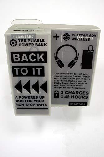 Urbanears Plattan ADV Wireless Kopfhörer mit Bluetooth und Powerbank, Schwarz