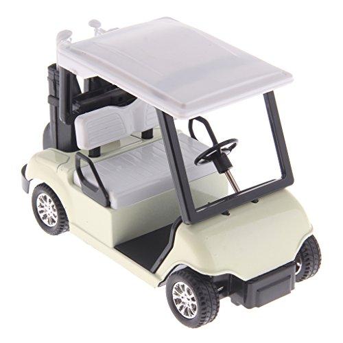 FThinkup Golf Cart 1:20 Scale Mini Alloy Pull Back Golf Cart w/ Clubs Diecast Model Vehicle Playset Toy Office Desk Decor Kits