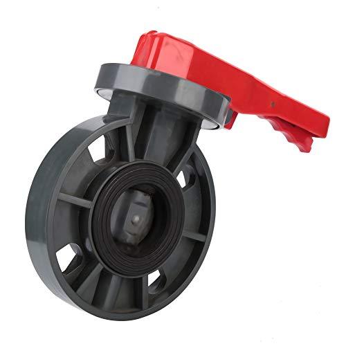 XQAQX Válvula, Válvula de Mariposa, Válvula de plomería, Válvula de Control de Flujo, Válvula de Mariposa para Piscina Gatillo del Equipo Válvula de Control de Flujo de Agua(3 Inches)