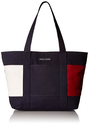 Tommy Hilfiger Tote Bag for Women Flag Canvas, tommy navy