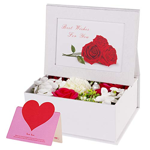 ANBET Kreatives Blumengeschenk mit DIY Fotorahmen Künstliche Rose Handgemachte Blume Duftende Seife Blumengeschenk zum Muttertag Lehrertag Valentinstag
