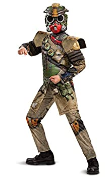 Apex Legends Bloodhound Costume Video Game Inspired Muscle Padded Jumpsuit and Mask Child Size Large  10-12