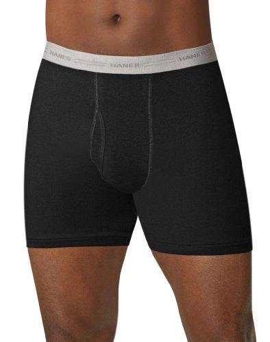 Hanes Herren-Boxershorts ohne Etikett, mit Komfort-Flex-Bund, Multipack, 5er-Pack, gefärbt, Sortiert, groß