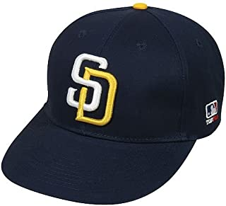 watch 0f886 51595 San Diego Padres (White Gold SD) Adult MLB Licensed Replica Cap Hat