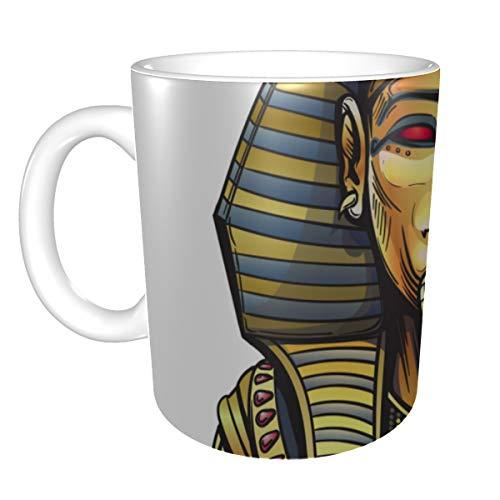 Taza de café portátil del antiguo Egipto Sarcófago Faraón Taza de café divertidas Tazas de café Hombres 11 onzas para hombres Mujeres Regalos ideales para leche de desayuno