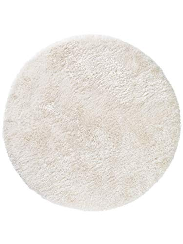 Benuta Hochflor Teppich Rund Lea - Oeko-Tex Standard 100-Siegel - 50% Polyester, 50% Polypropylen - Uni - Maschinengewebt - Wohnzimmer