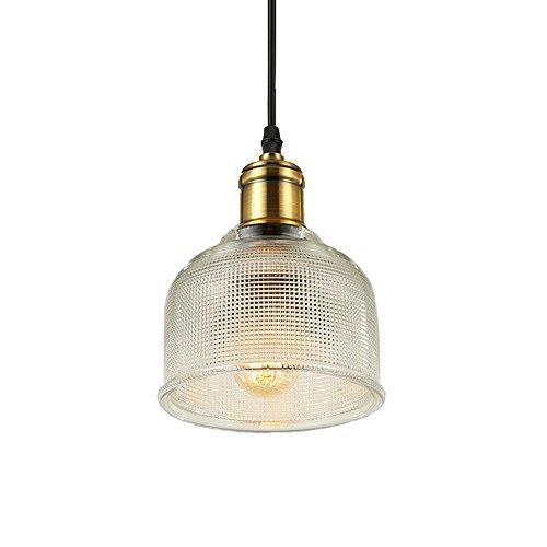 Lámpara con pantalla de cristal y soporte de cobre – Hjxdtech