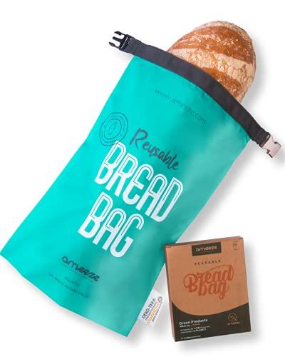 AMEEZE Sac à pain réutilisable en polyester recyclé certifié Öko-Tex 100 – résistant, léger, lavable, pour le shopping, le stockage et le congélateur, respectueux de l'environnement
