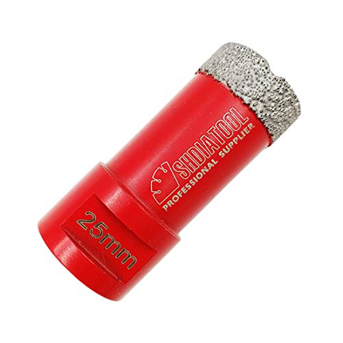 SHDIATOOL Dry Diamond Drill Core Bit Diameter 25mm Vacuum Brazed Drilling Porcelain Tile Granite Marble