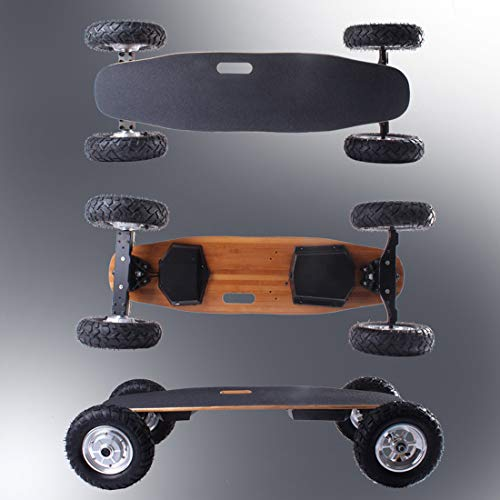 Monopatín eléctrico Todoterreno Longboard Velocidad máxima 40 mph Alcance máximo 15 km Longboard eléctrico 800W*2 Dual Motors con Control Remoto 268 LB Carga máxima