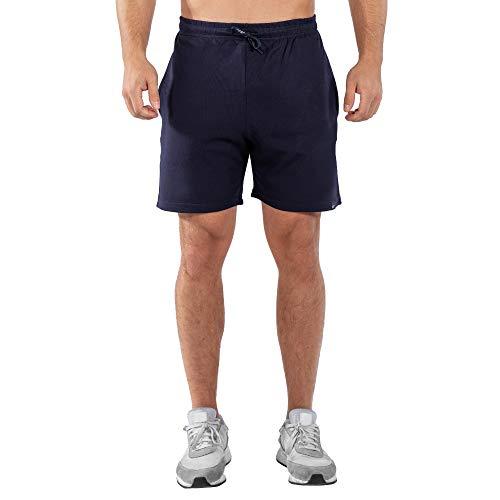 SMILODOX Herren Shorts Basic   Kurze Hosen für Sport Fitness Gym Training & Freizeit   Jogginghose - Freizeithose - Trainingshose - Sweatpants - Sporthose Kurz, Größe:XXXXL, Farbe:Blau