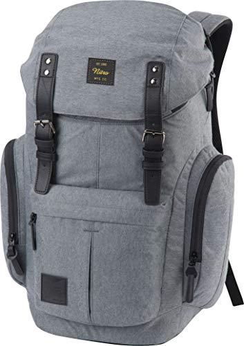 Nitro Schulrucksack Daypacker Alltagsrucksack im Retro Look mit Gepolstertem Laptopfach, Schulrucksack, Wanderrucksack oder Streetpack, Größe und Schnitt ideal für Frauen, 32 L, Black Noise