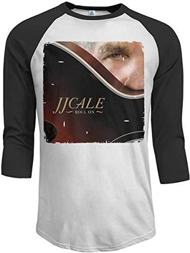 J.J. Cale Roll On Men's 3/4 Raglan Sleeves Baseball T-Shirts Black,Small