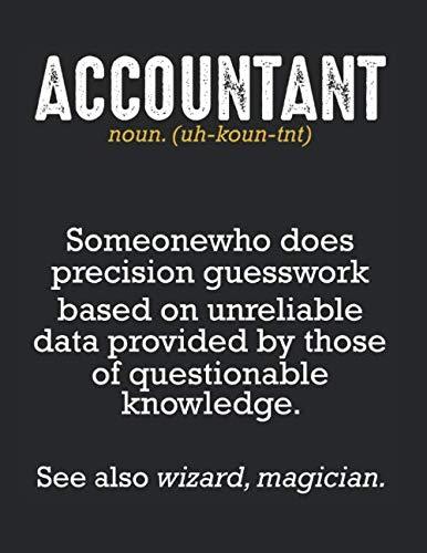 Accountant Definition Buchhalter Steuerberater: A4+ Softcover 120 beschreibbare karierte Seiten | 22 x 28 cm (8,5x11 Zoll)