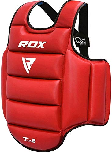 RDX TKD Chest Guard Boxing MMA Body Protector Martial Arts WTF Reversible Rib Shield Armour Taekwondo Target Training Kickboxing