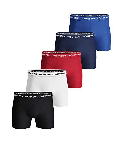 Björn Borg Herren Boxershorts Shorts Noos Solids 5p, Mehrfarbig, XL