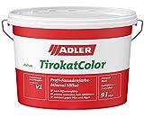 ADLER AVIVA Tirokat-Color - 1 Liter - Weiß - Wetterbeständige, mineralische Fassadenfarbe auf Wasserbasis. Hochwertige Silikatfarbe für außen