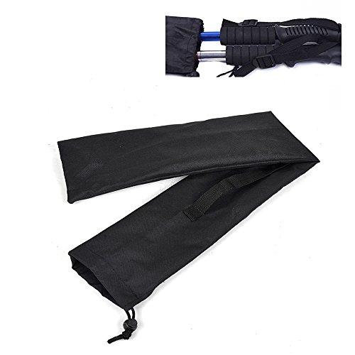 Buwico® Noir Pôle Sac Pliable pour 1-2 Paire de bâtons de randonnée et bâtons de Marche Nordique