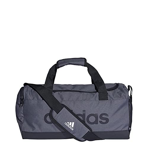 adidas Linear Duffel S Bolsa de Deporte, Adultos Unisex, GRISEI/Negro/Negro (Multicolor), Talla Única
