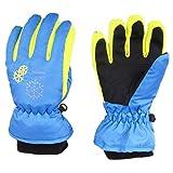 TRIWONDER Thermal Fleece Skihandschuhe Snowboard Handschuhe wasserdichte warme Winterhandschuhe für Kinder (blau, XS (3-5 Jahre))