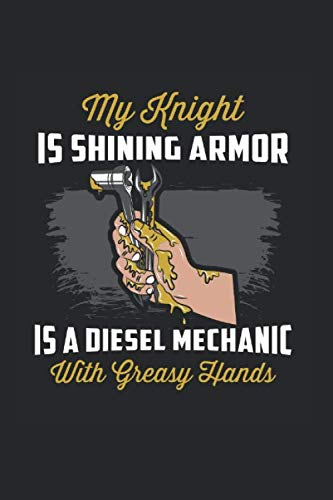 Diesel Mechanic With Greasy Hands: Notebook Compact 6 x 9 inches Blank 4x4 Quad Ruled 120 Cream Paper (Diary, Notebook, Composition Book, Writing Tablet)